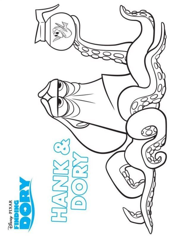 Coloring page Finding Dory: hank and dory | Coloring Pages ...