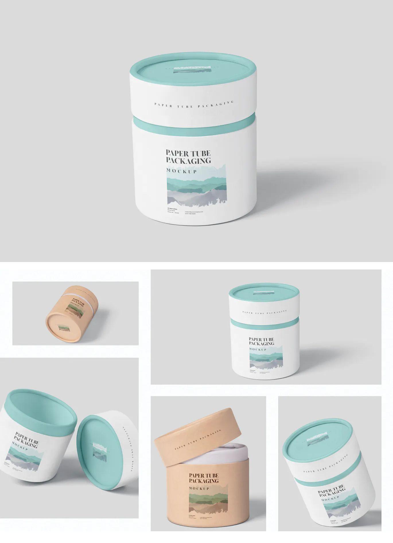Download Paper Tube Packaging Mock Up Set Small Packaging Template Packaging Mockup