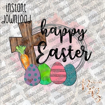 Happy Easter INSTANT DOWNLOAD print file PNG in 2020