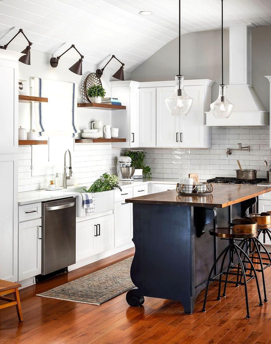 This coastal farmhouse style kitchen was part of a