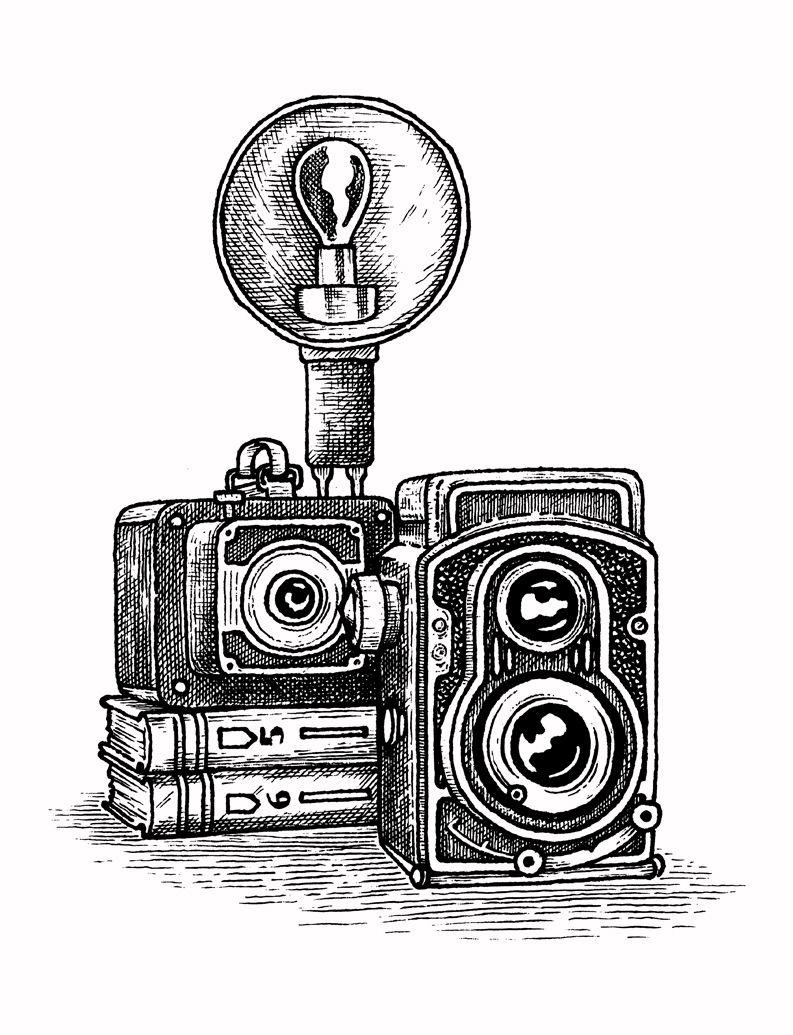 Vintage Camera – Sevenly   Vintage cameras art, Camera art, Camera ...