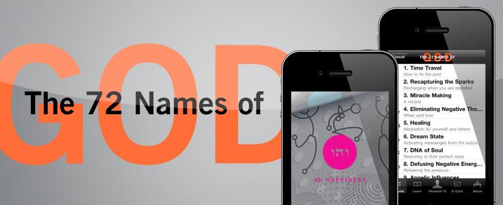 72 Names of God App - iPhone, iPad, Android | Kabbalah