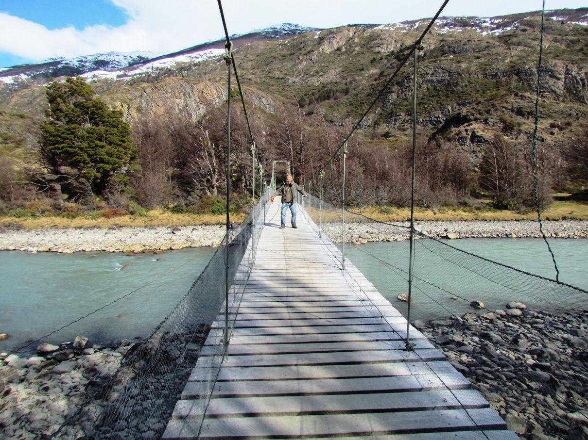 Ponte Caminho Para Avistar O Glaciar Grey Torre Lugares Ponte