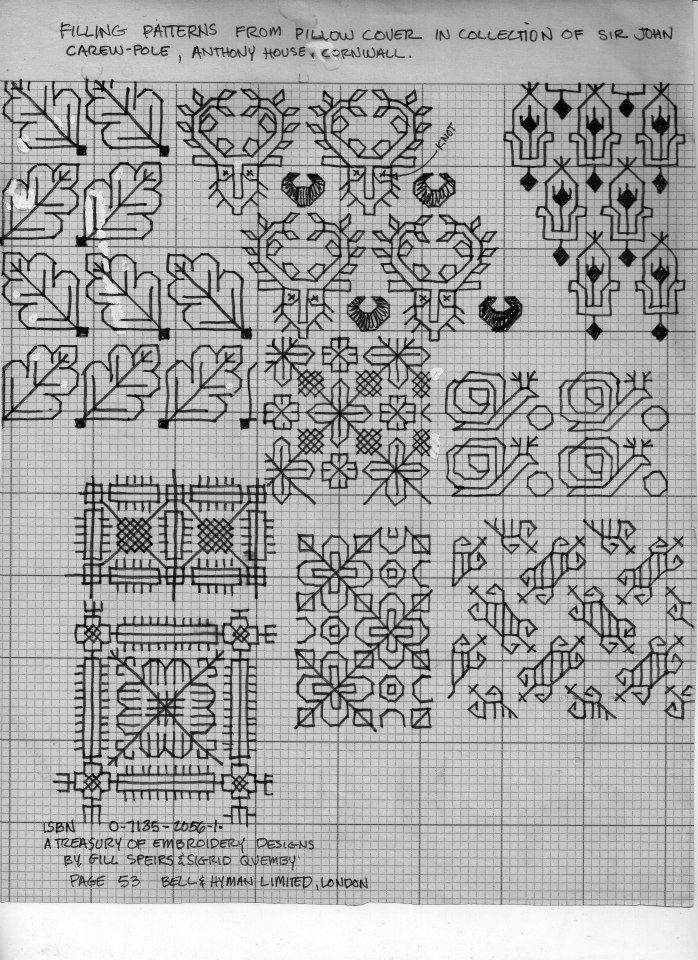 Black Work Designs | Blackwork patterns.