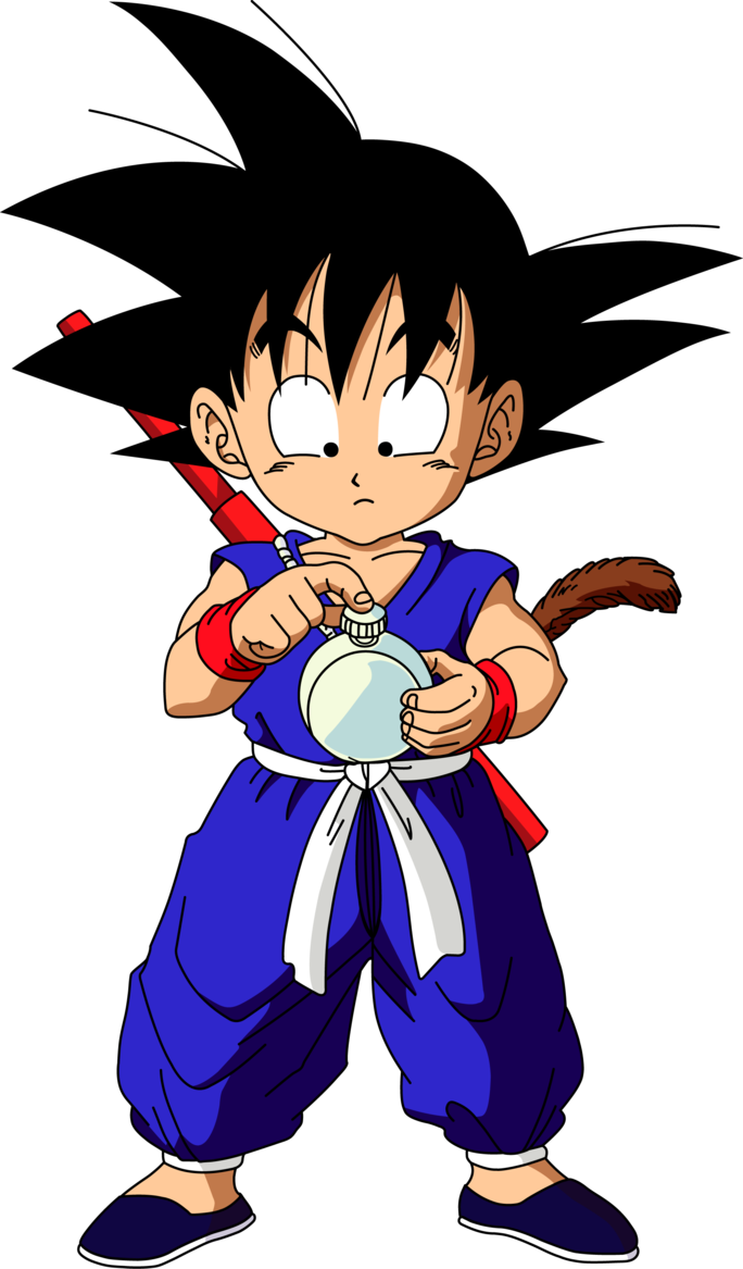 Dragon Ball Goku Pequeno Dragon Ball Imagenes Pinterest