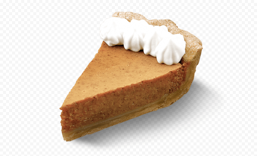 Real One Piece Of Pumpkin Pie Tart With Cream Pumpkin Pie Food Png Pie Tart