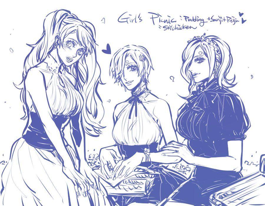 One Piece, Reiju, Sanji (fem), Purin