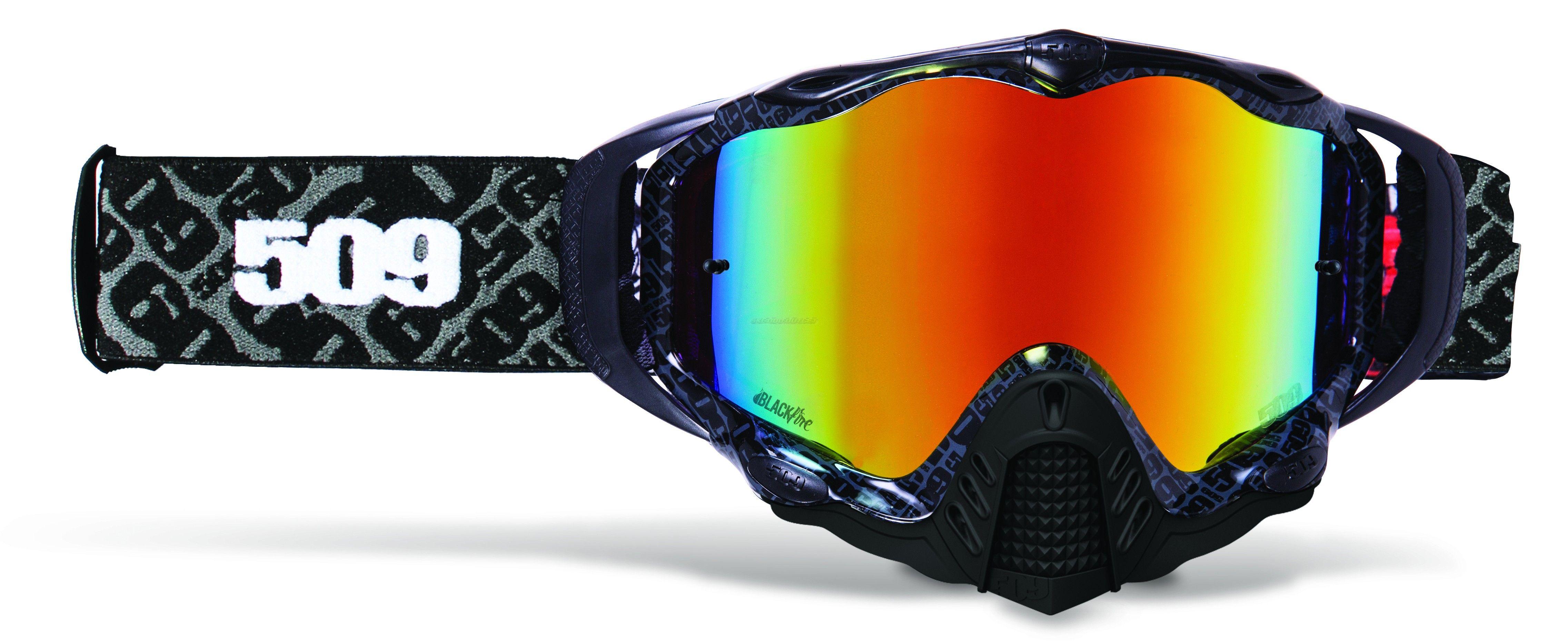 1eb4a41dbd60 509 Sinister MX-5 Black Fire MX OffRoad Snowmobile Goggles