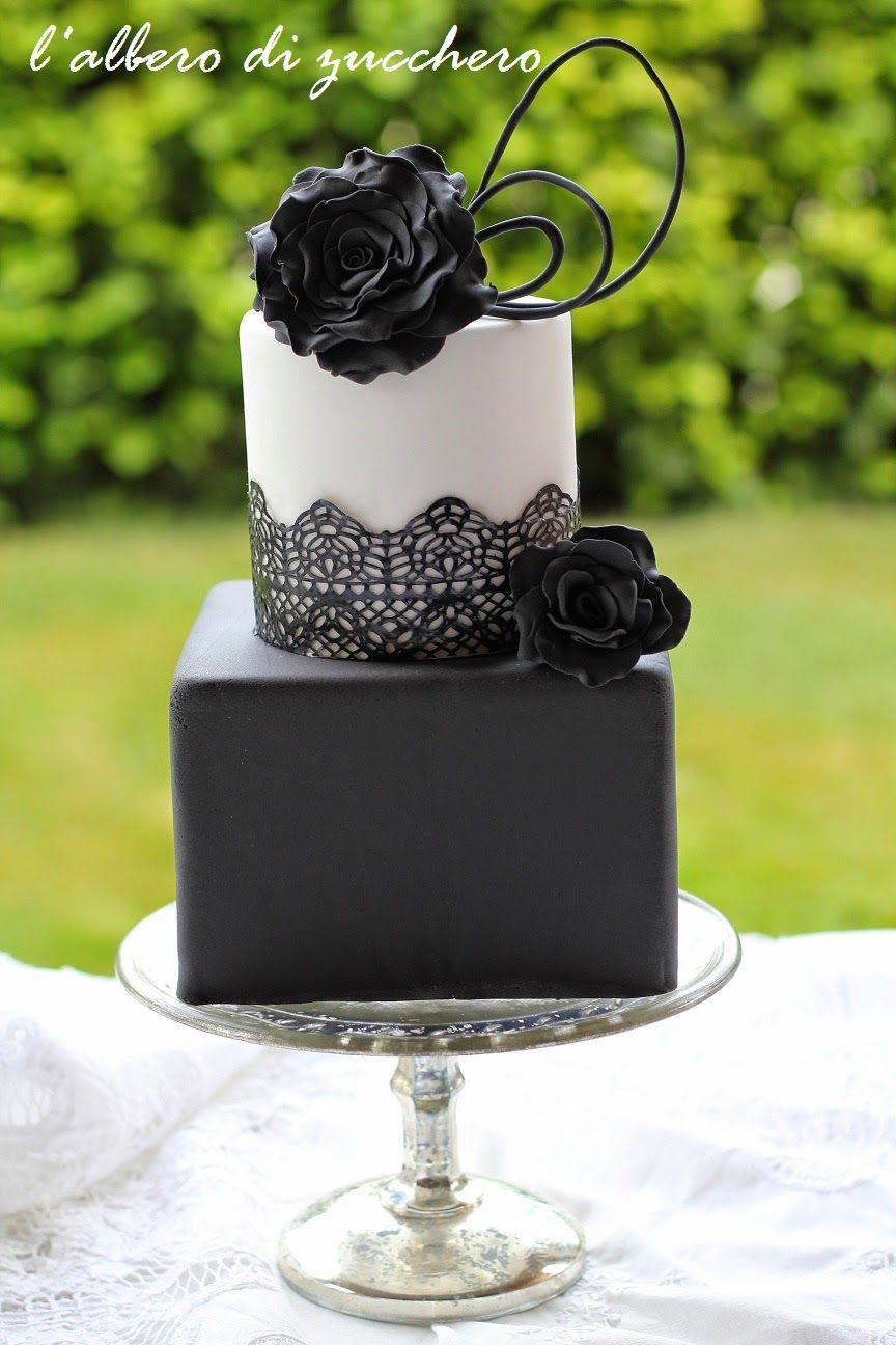 White black rose u lace cake boda pinterest lace cakes cake