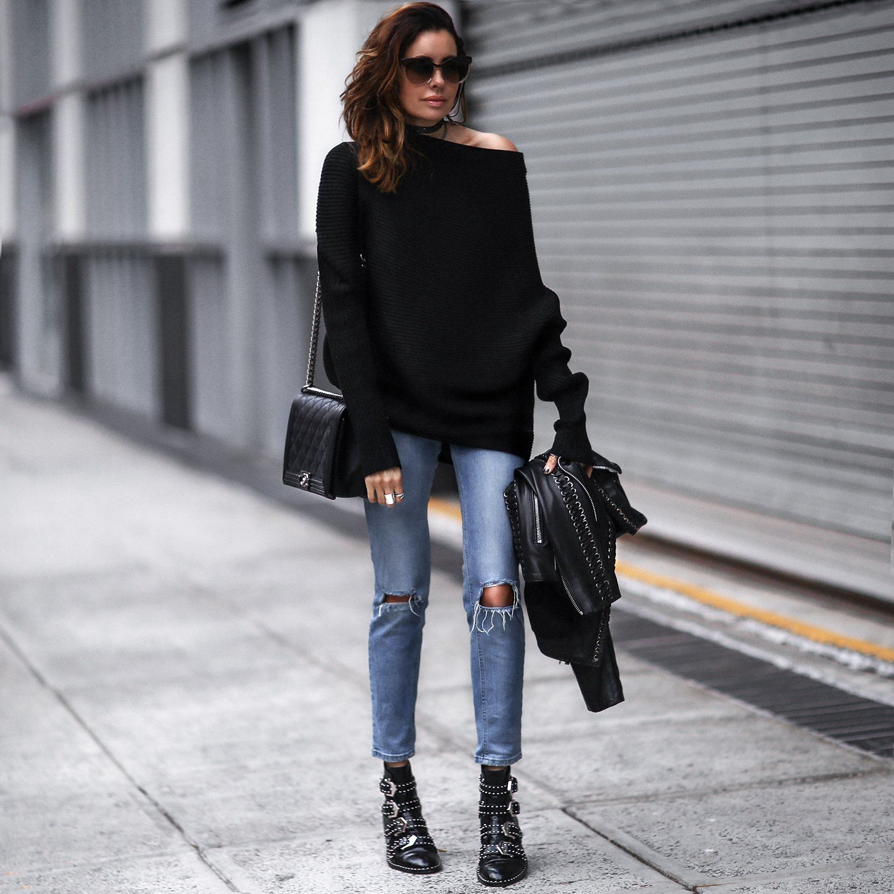 Studded boots outfit, Givenchy studded