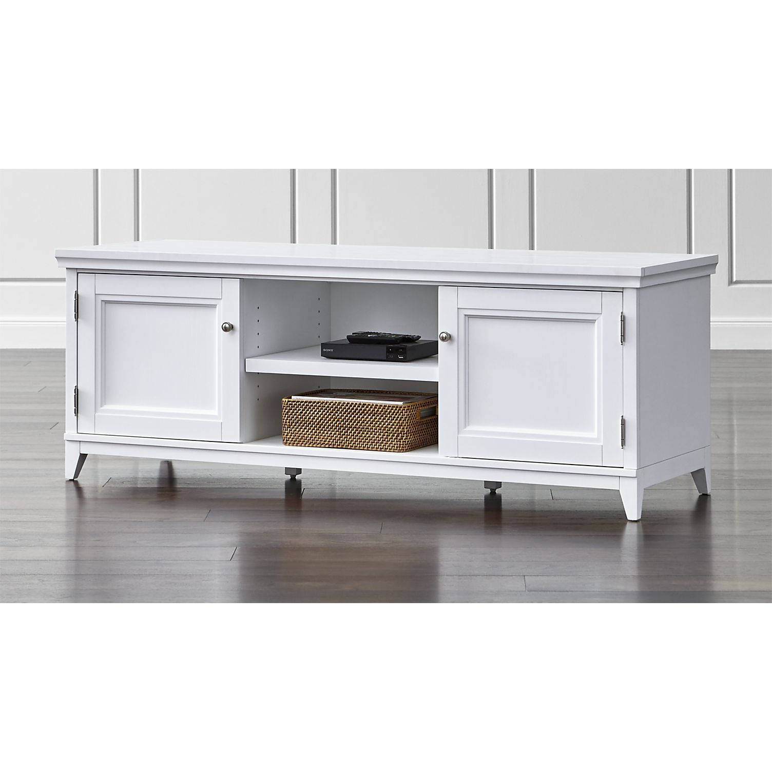 Conquer the clutter in style with our classically handsome harrison modular open media tv stand the foundation of your ideal home media room