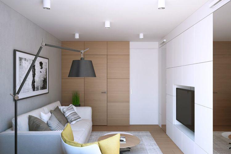 Wohnzimmer Fenster ~ Zimmertüren wandgestaltung folieren holzpaneele kleines wohnzimmer