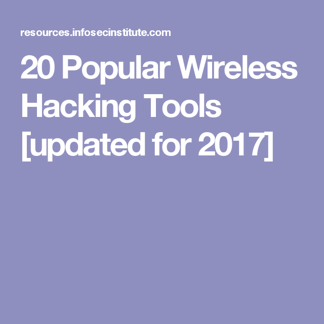 Image result for 20 Popular Wireless Hacking Tools [updated for 2017]