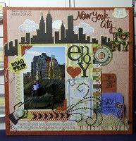 New York City Scrapbook Page in Scrapbooking