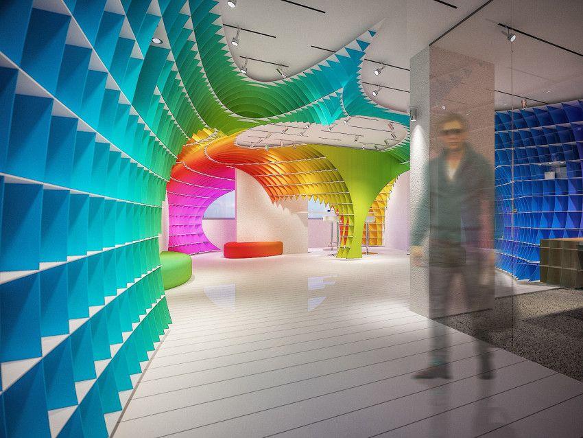 Halimoglu Paint Co. Head Office And Showroom | Architect Magazine | Yegena  Architectural Design,. Architect MagazinePaint CompaniesInterior ...