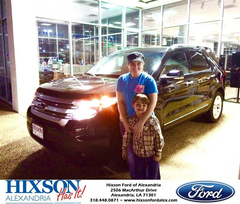 Congratulations to britany thompson on your ford