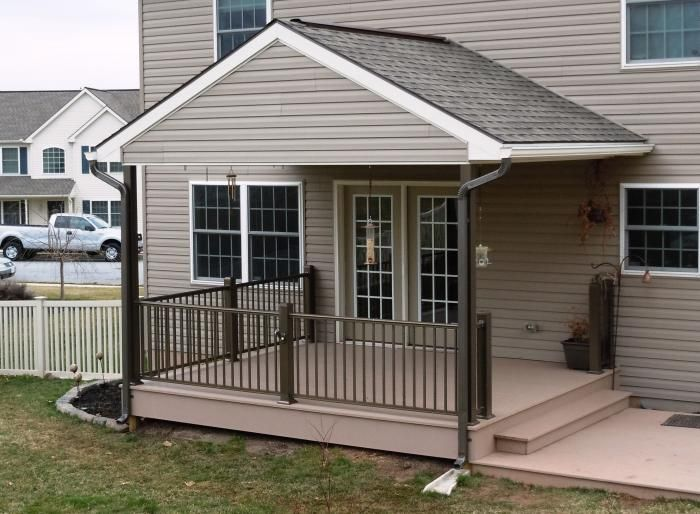 Porch Roofs Over Decks | Bi Level Deck With A Frame Roof Over