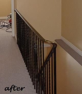 After Painting Wrought Iron Railing