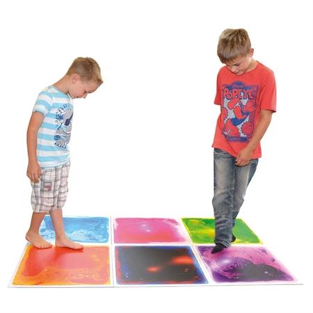 Square Gel Floor Tiles Set Of 4 Sensory Toys Unique Tile