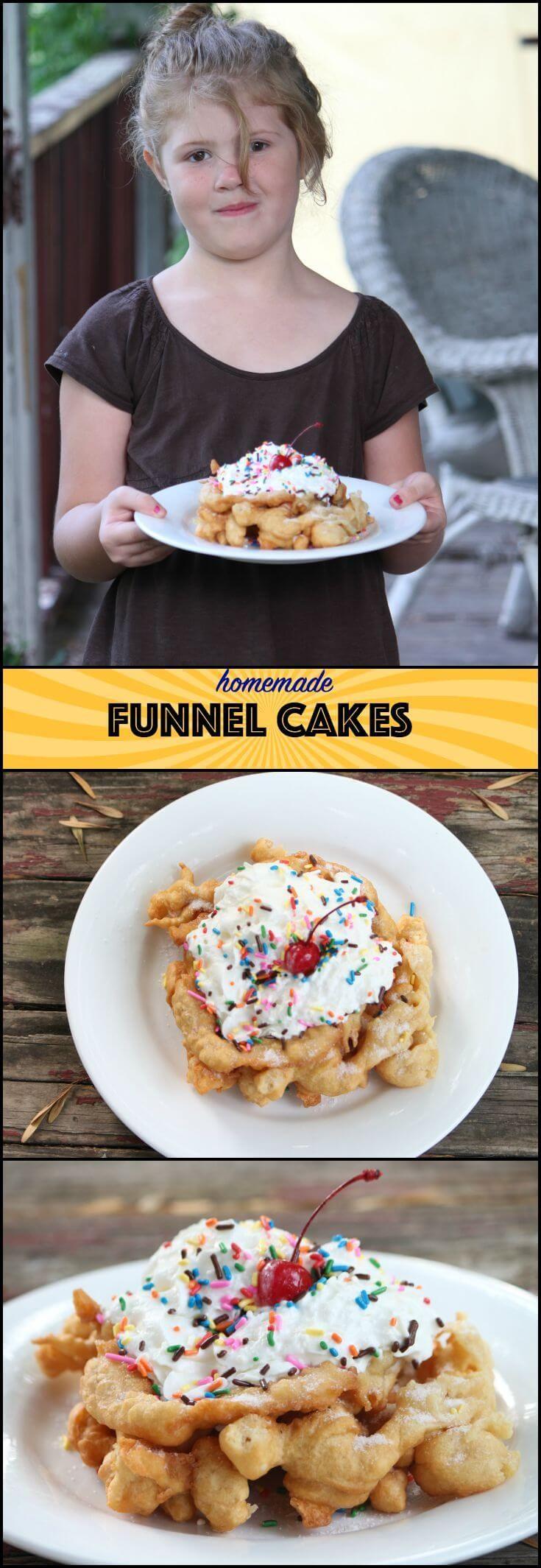 Easy homemade funnel cakes recipe recipe funnel cake
