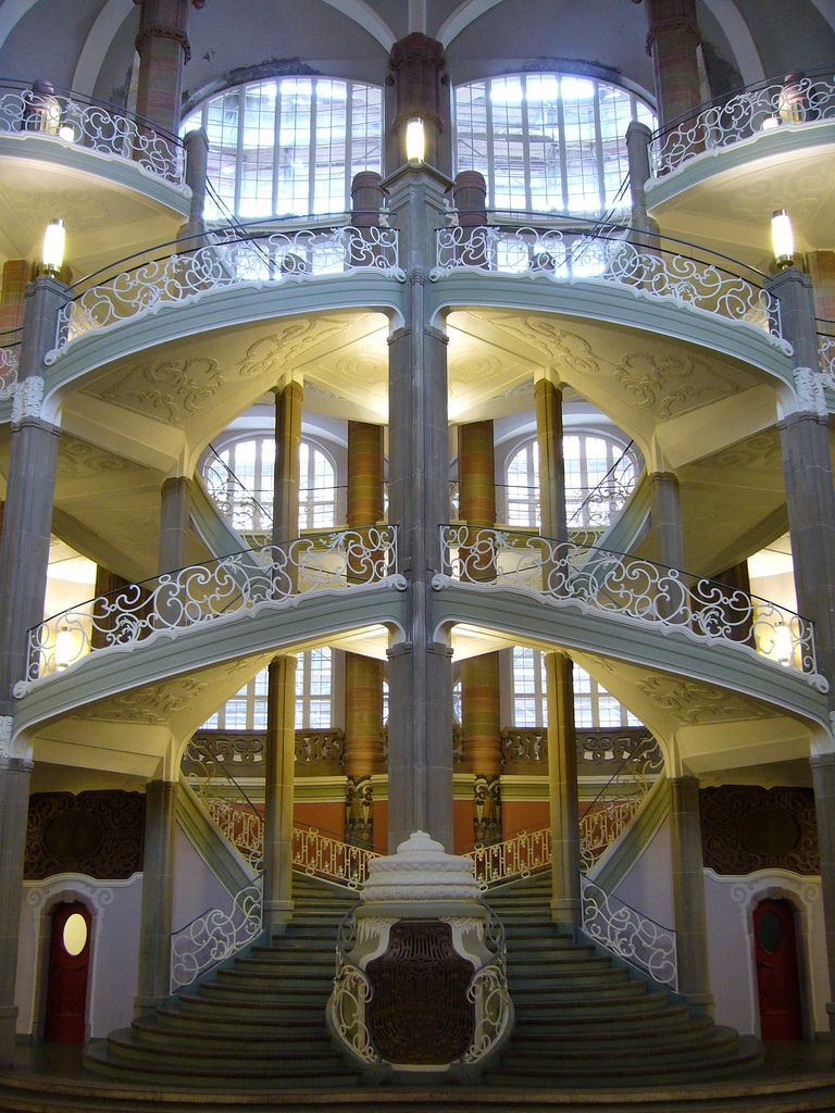Art Nouveau Stairs -- County and Local Court, Berlin, Germany