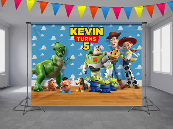 x2 Personalised Birthday Banner Toy Story Children Party Decoration Poster 12