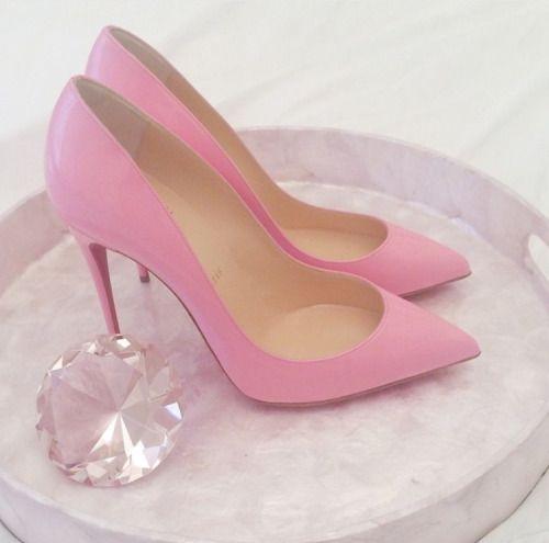 53dcef1de7c5 Pink diamond   heels ♡