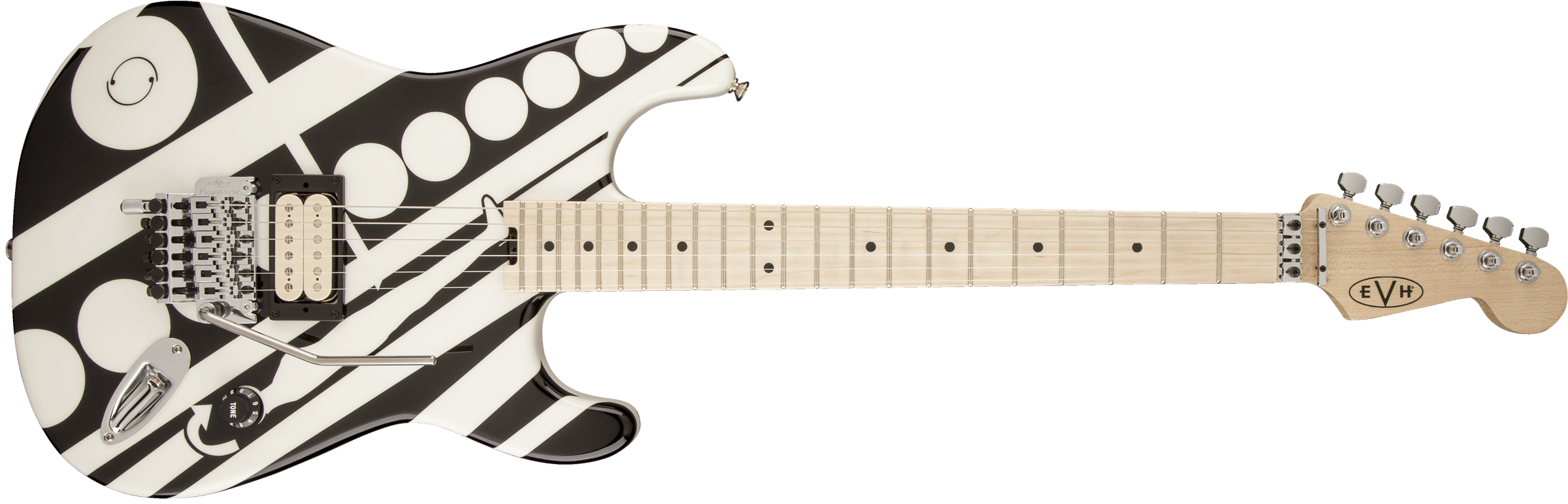 Evh Striped Series Circles See Ya Guitar Black And White Van Halen