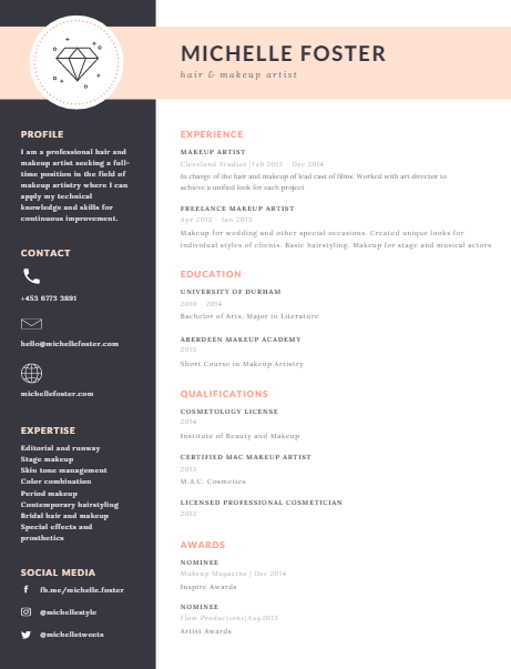 canva  1 resume