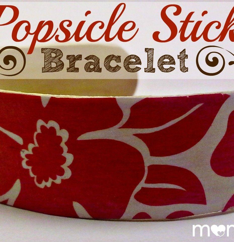 Popsicle stick bracelet! | Craft Ideas | Pinterest | Popsicle ...