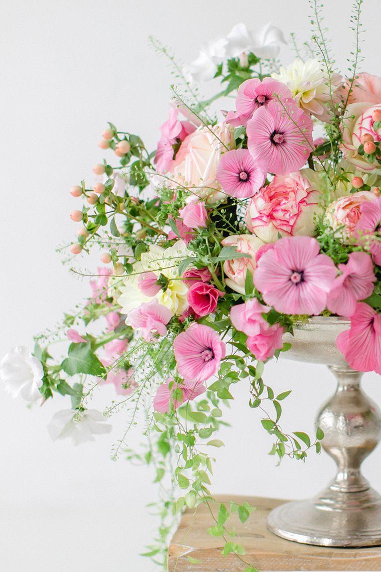 Blume Des Monats August Malve Flower Arranging Materials