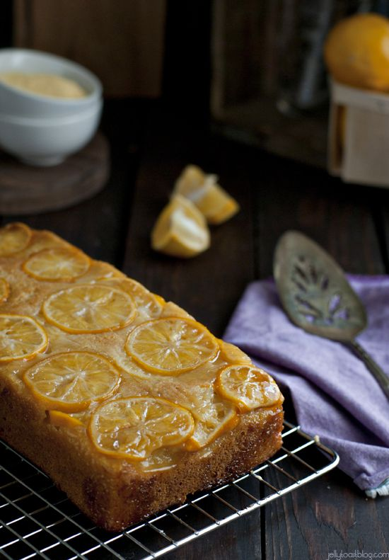 meyer lemon cornmeal quick bread - Jelly Toast