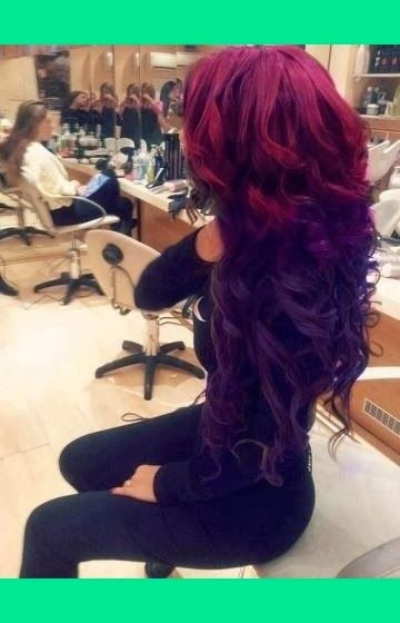Violet Red Hair Dye Ideas Hair Styles Long Hair Styles Purple Ombre Hair