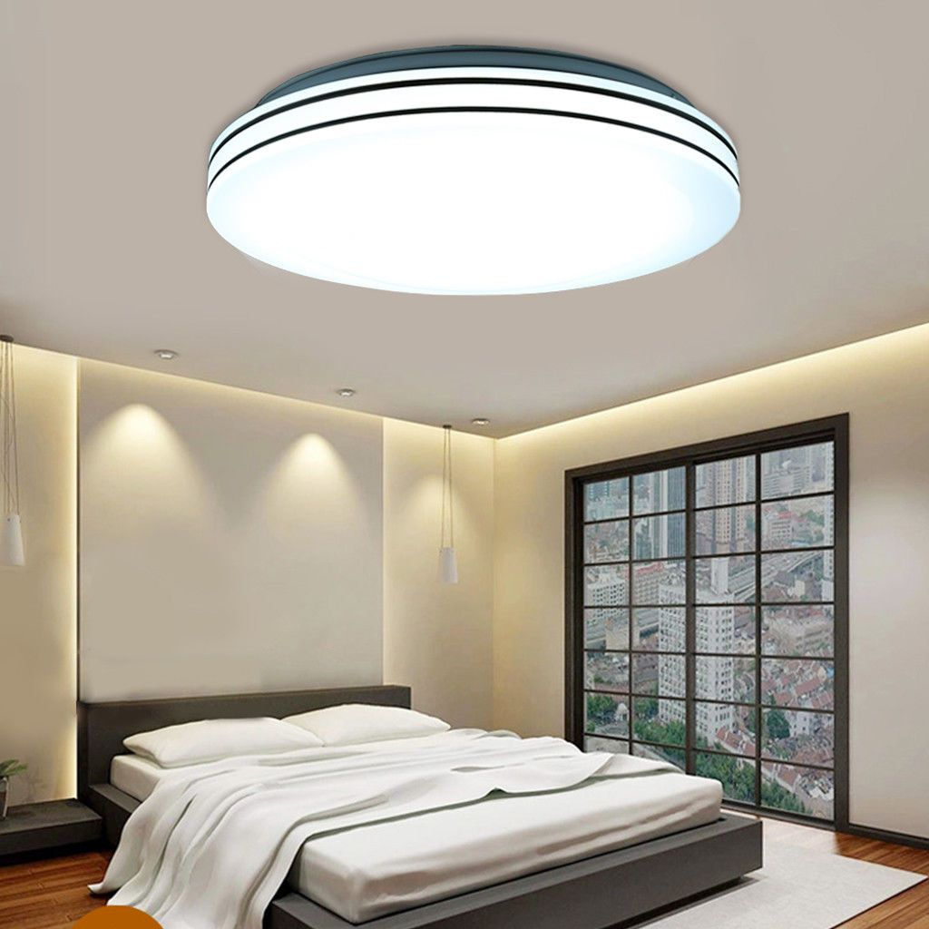 24w Round Led Ceiling Light Flush Mount Fixture Lamp Kitchen Bedroom Down Lamp Led Ceiling Lights Ceiling Lights Led Ceiling Light Fixtures