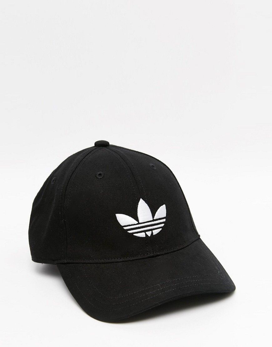 c465d7b2ec84c adidas Originals Trefoil Cap In Black | Don't Look | Adidas hat ...