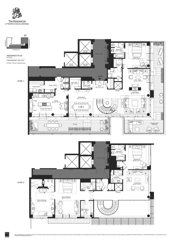 Floorplan on the week 10 million penthouse at the