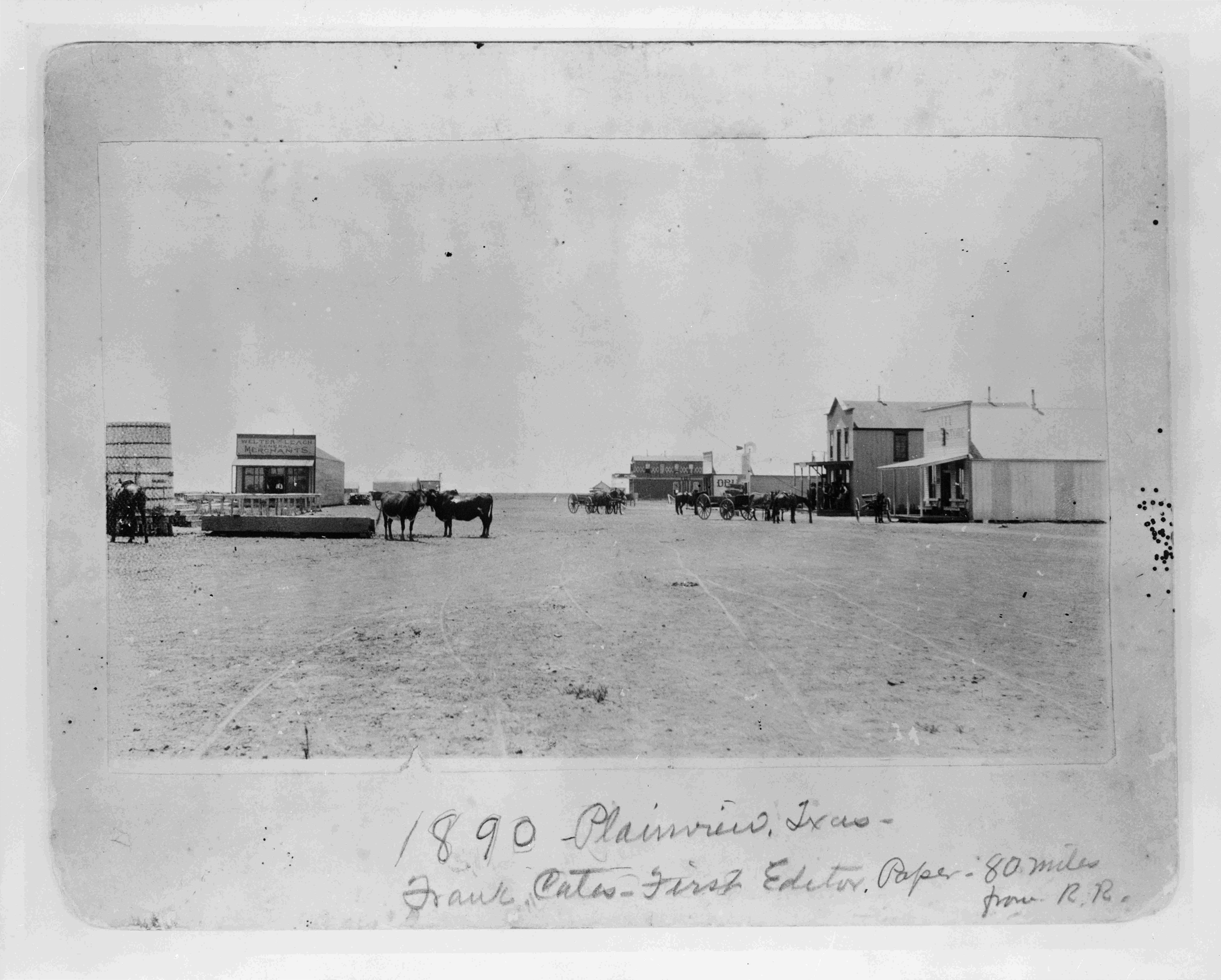 Plainview Texas 1890 Via Texas State Library And Archives This