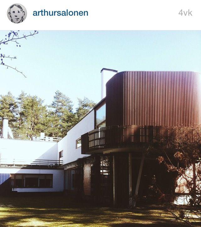 Finland, Noormarkku, Villa Mairea, Alvar Aalto, photos from Instagram