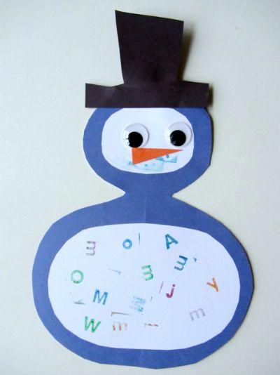snowman letters