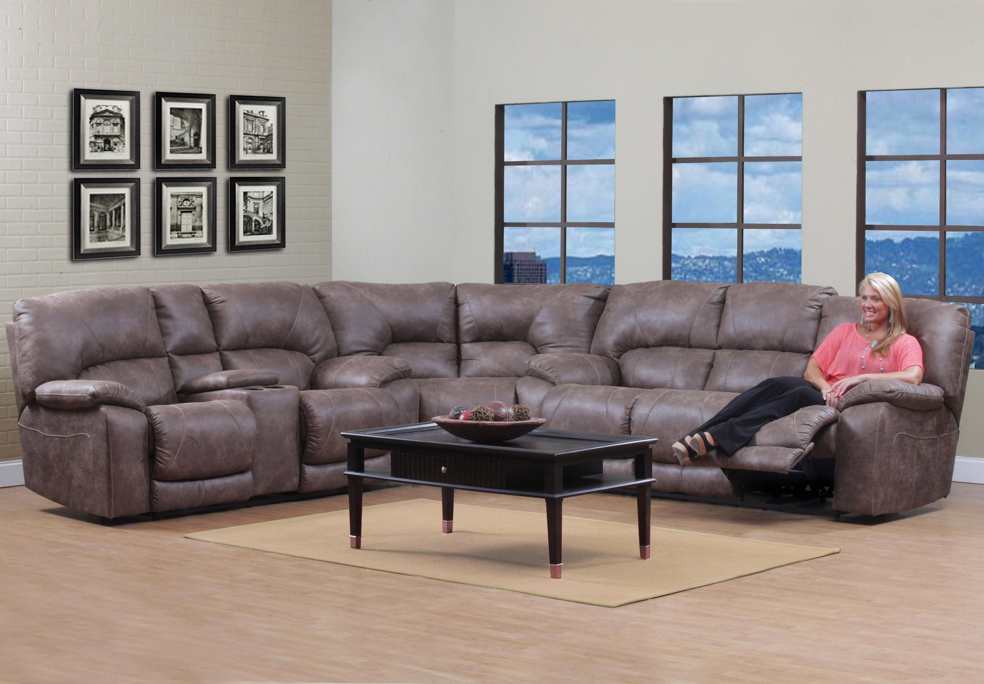 114 Series Reclining Sectional By Homestretch Reclining