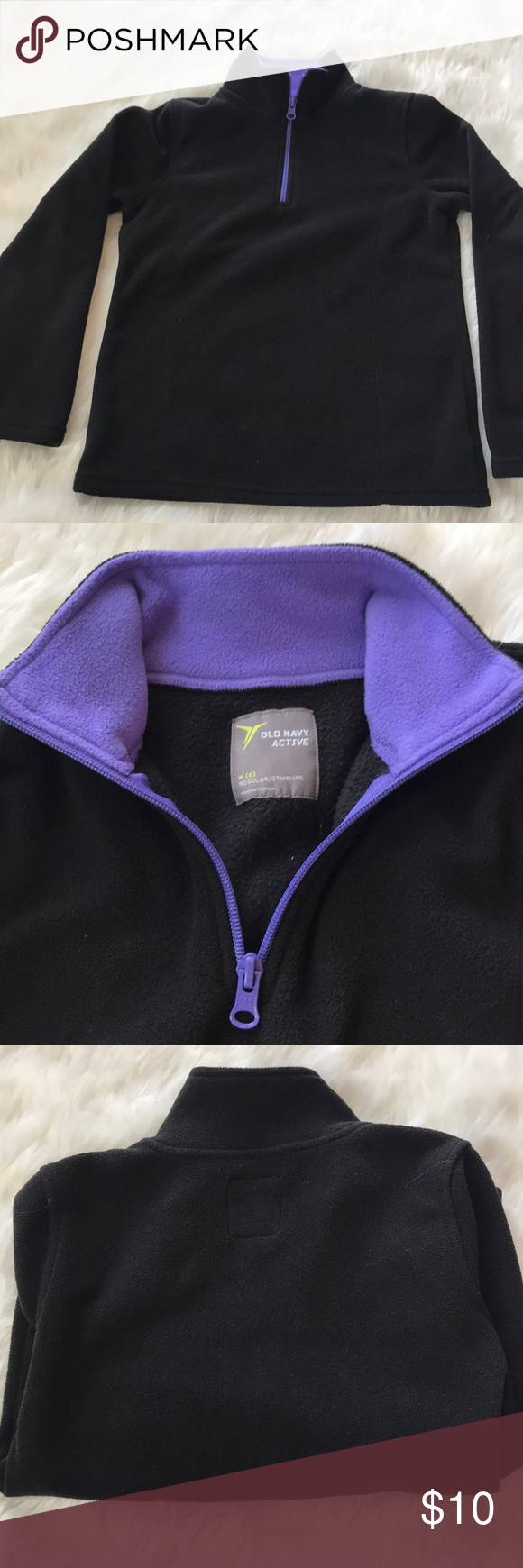 Old navy active light weight fleece sz med cute black fleece from