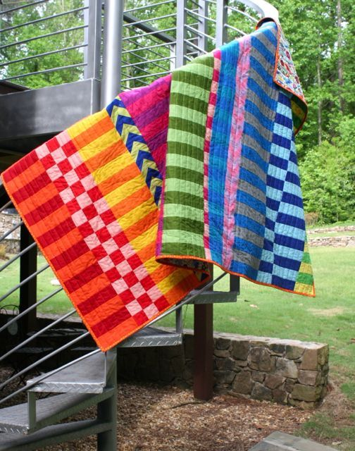 RJR saturated colors by whipstitch | quilting | Pinterest ... : color block quilt pattern - Adamdwight.com