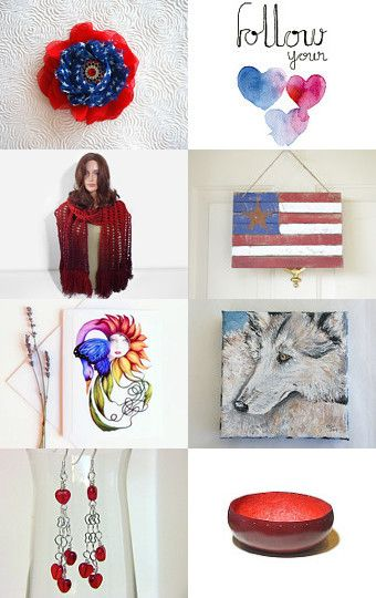 Color blending: Red Blue and White by Efi on Etsy--Pinned with TreasuryPin.com! A fantastic collection full of creative and fun gift ideas!