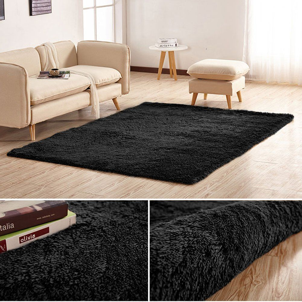 Junovo Area Rugs For Living Room Soundinsulating Home Decor Mats 4 X 5 3black Click On The Image For Additional Deta Home Decor Bedroom Carpet Nursery Rugs #soft #area #rugs #for #living #room