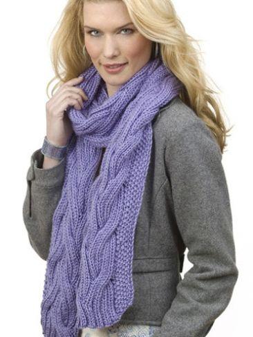 Reversible Cable Rib Scarf Yarn Free Knitting Patterns Crochet