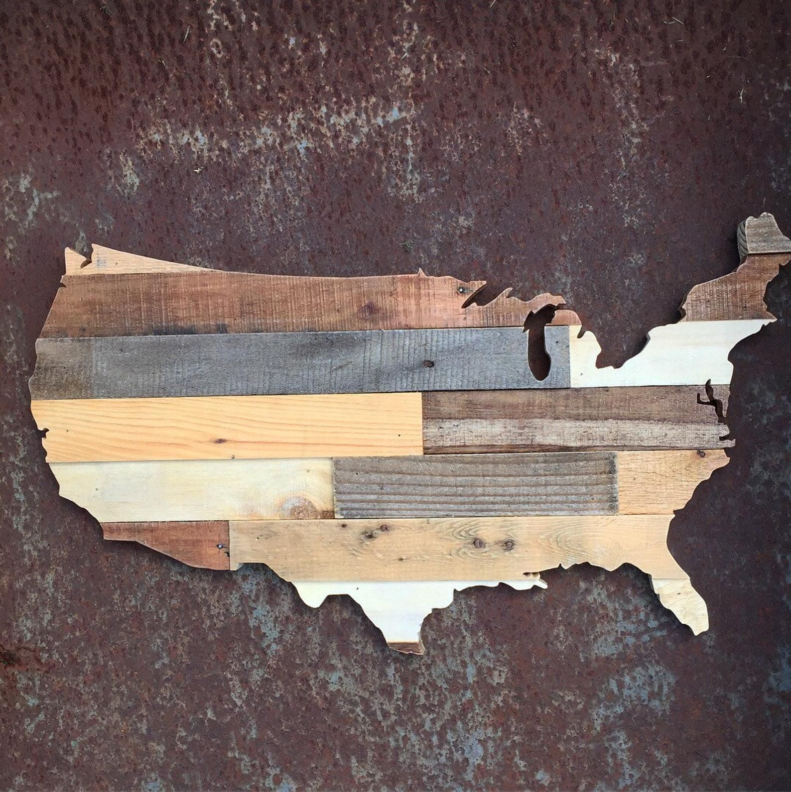 Rustic United States of America Wood Sign | USA pallet ...