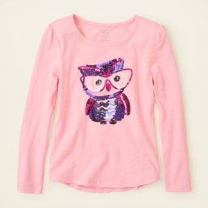 The Childrens Place Baby Girls Long Sleeve Graphic Sweater