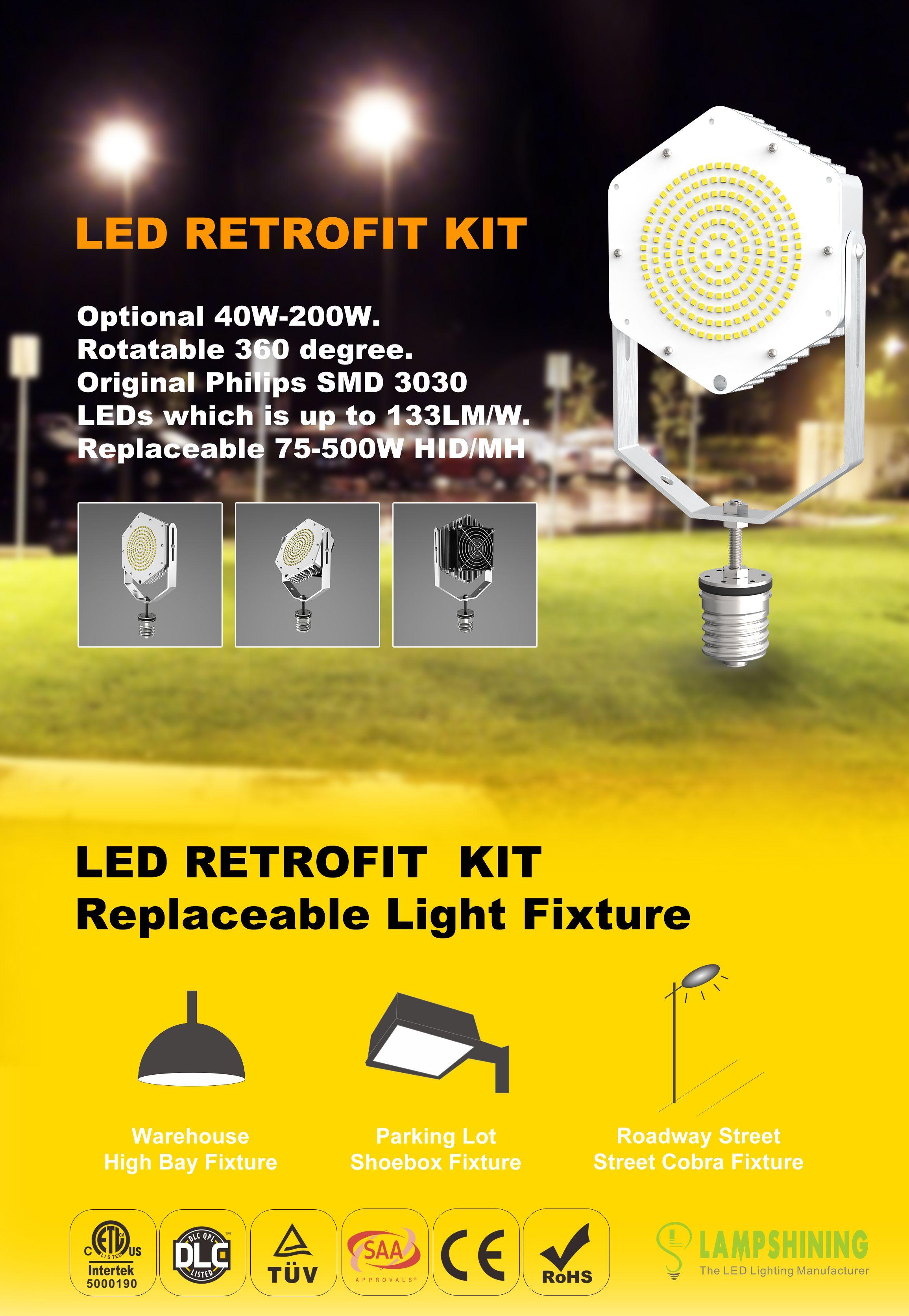 150w Led Retrofit Kits Flood Light High Bay Post Top Cobra Head Led Retrofit Led Parking Lot Lights Flood Lights 150w