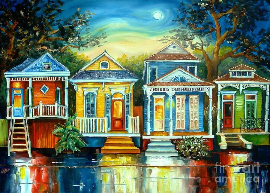 House Paintings big easy moon | moon painting, house paintings and moon
