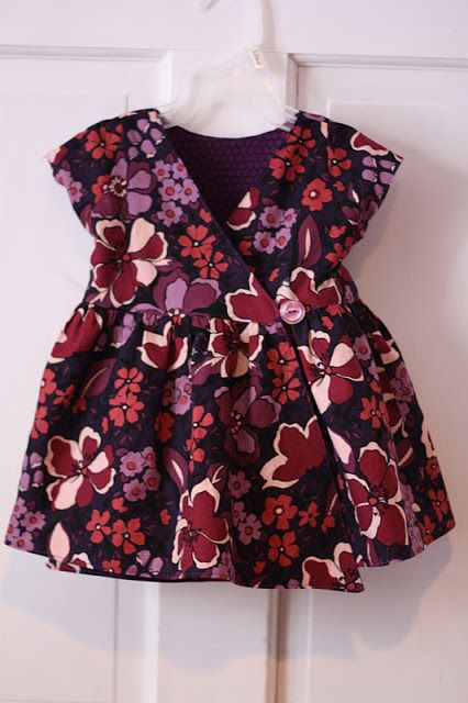 craftyNHmom: sewing for baby - Lucy reversible dress
